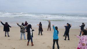 צ'י קונג על החוף